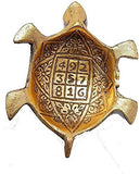 Decor And Art Metal Tortoise with Glass Plate (Gold Plated), for Good Luck & Career & Trutle Plate Yantra, Feng Shui, Vaastu (Aluminium) Decorative Showpiece -5.5 inc.