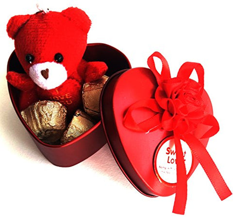 Urvi Creations Chocolates In A Cycle Basket With Mini Teddy Bear Soft Toys