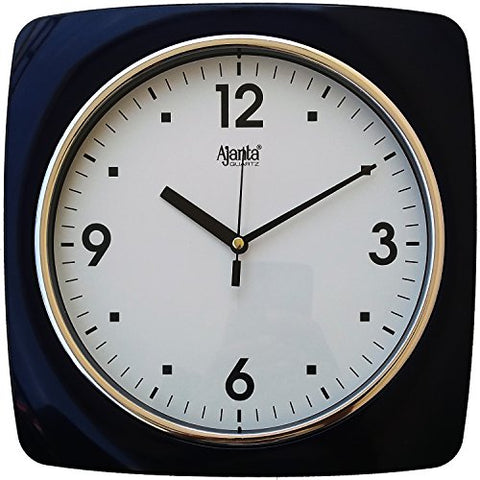 Ajanta Wall Clock For Home And Offices (25 cm x 25 cm , Step Movement, Blue)