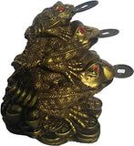 Kraft Village Fengshui Three Tiered Frog with Coin for Wealth and Money