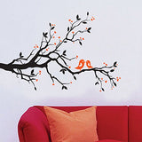 Decals Design 'Branch with Lovely Birds' Wall Sticker (PVC Vinyl, 25 cm x 70 cm)