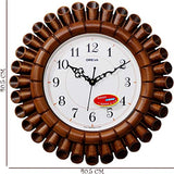 Ajanta Oreva Analog Wall Clock (40 cm x 40 cm - Brown)