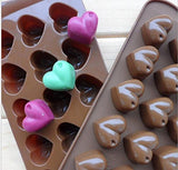 FASTUNBOX (LABEL)1 Piece - Heart Shape Silicone Chocolate Cake Jelly Candy Mould(Color in Photo)