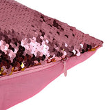 "022-(Red+Black) : FUNOC Mermaid Reversible Sequin Magic Swipe Pillow Cover Sofa Throw Pillowcase Cushion Case 16""X16"""