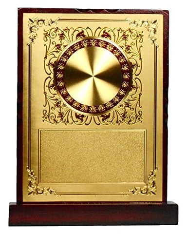 GEETHA HANDICRAFTS Wooden Trophy, 12 cm x 5 cm x 17 cm (Gold)