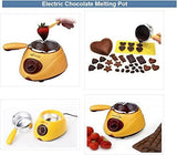 Moolten Chocolate Fountain Fondue Melt Pot, Household DIY Dessert Machine,Electric 220V 25W,Oven Melting Pot 0.25 L