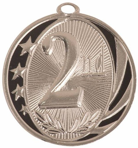Trophy Paradise - Midnite Star - 2nd Place Medal 2.0 (Pack of 5) - Silver only