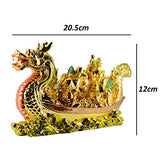 Reiki Crystal Products Porcelain Dragon Boat Feng Shui Idol/Showpiece