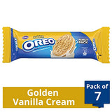 Cadbury Oreo Golden Vanilla Creme Biscuit, 120g (Pack of 7)
