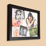 AJANTA ROYAL Synthetic Wood Personalized Photo Collage Frame ( 8x12-inch, Black)