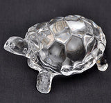 Petrichor Fengshui Vastu Original Clear Leaded Crystal Turtle for Peace & Prosperity | Home Decor and Gifting (Big)
