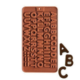 Aai Silicone Alphabets Shape Chocolate Jelly Candy Mold, Cake Baking Mold, Bakeware Mould - Assorted
