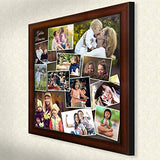 AJANTA ROYAL Personalized Synthetic Wood Photo Collage (16x16-inches,Brown):A-107B