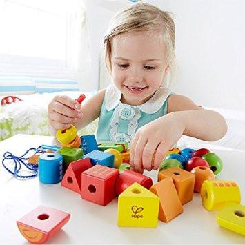 Hape String-Along Shapes Early Explorer Educational Learning Toys for Kids Ages 3+ - {variant_title}} - Toys & Board Games - Sit - www.tcgonlinestore.com - www.tcgonlinestore.com