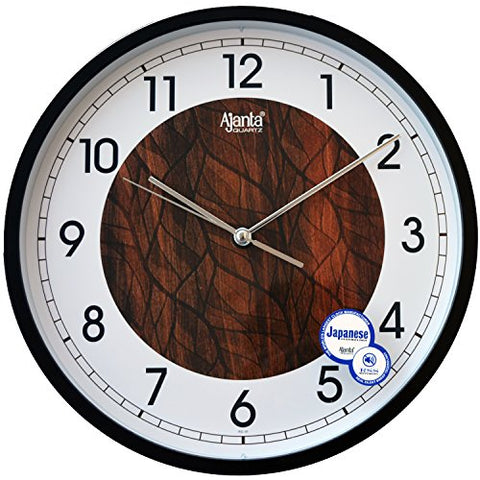Ajanta 12 inches Wall Clock for Home/Offces/Bedroom/Living Room/Kitchen (Silent Movement, White)