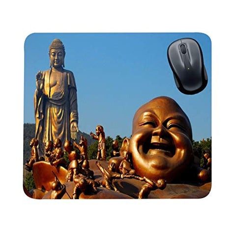 FS Buddhas Gifts Office Printed Laughing Budha with Kids Mousepad for Computer, PC, Laptop,