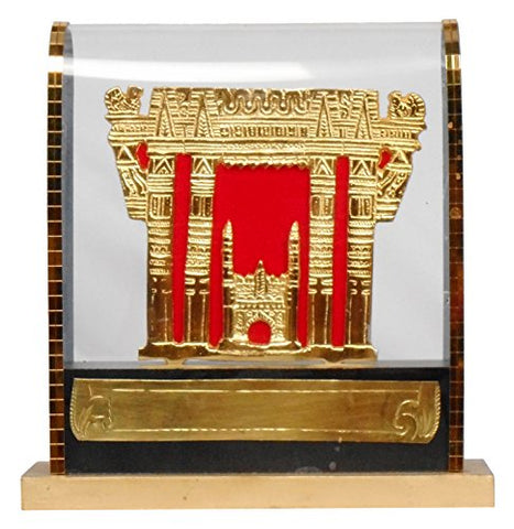 GEETHA HANDICRAFTS Wooden Trophy, 6 cm x 8 cm x 23 cm (Gold)