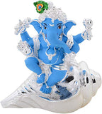 Lavanaya Silver Presents Silver Ganesha Idol for Gift, Shankh Ganesh Idol for House Warming Anniversary | Corporate Gifts