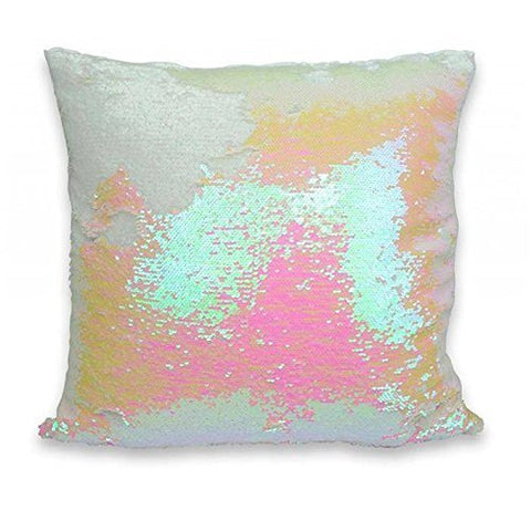 Casemantra™ genuine cushion cover white and pink 16 x 16 size