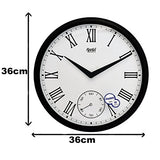 Ajanta 14 inches Wall Clock for Home/Offces/Bedroom/Living Room/Kitchen (Silent Movement, Brown)