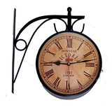 ROYSTAR Double Sided Analog Vintage Design Wall Clock - Victoria Station 1747 London, DIAL 6""