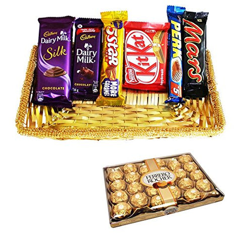 Chocolate Combo With 24 Pieces Ferrero Rocher 25