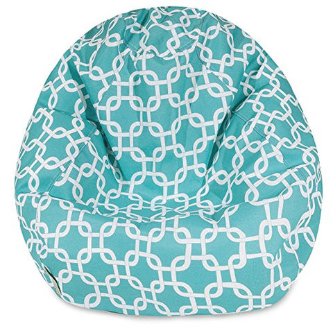 Aart Chain Pattern Digitally Printed Canvas Bean Bag With Beans Filled (XXL)