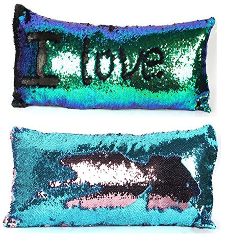 "3060cm TypeB : DIY Magic Reversible Sequins Mermaid Pillow Cases Throw Pillow Covers Cushion CoverDecorative Pillowcase 3060cm(1224"") (3060cm TypeB)"