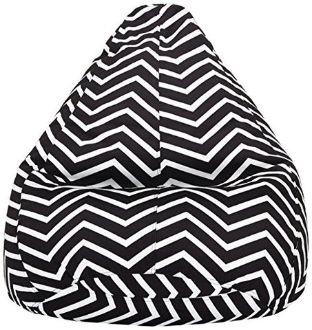 Amazon Brand - Solimo Chevron Stripes XXXL Printed Bean Bag Cover Without Beans