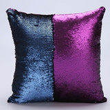 CARE CASE (TM) - Reversible Sequin Mermaid Magical Color Changing Decorative Magic Pillow Cover Glitter Sofa Bed Home Car Decor Cushion Cover Case -Perfect Gifts Gifting Option For Relative Friends Others (16x16 inch) (with free promotional mini docoss to