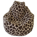 Aart Giraffe Pattern Digitally Printed Cotton Canvas Bean Bag Without Beans XXXL (Chocolate Color)