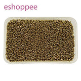 eshoppee 11/0, 200 gm Golden Color Glass Seed Beads for Jewellery Making kit Art and Crafts Materials for Embroidery Necklace Bracelet Earring Making Materials DIY kit
