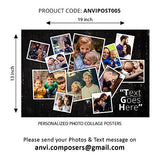 Anvi Composers Personalized Printed Text/Photo Collage / Poster / Memories For Family / Friends, 13 X 19 Inch Glossy Paper