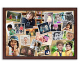 AJANTA ROYAL Personalized Photo Frames Wall Collage, 16x24-inch(Brown, A-109BP)