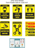 Coronavirus posters for covid 19 - Corona Virus - Corona Safety instruction set of vinyl stickers of best quality for shops, office, clinic and other small commercial activity