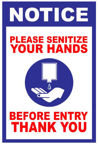Bikri Kendra - sanitize Your Hand Blue - Corona Virus Precaution Health Poster for Office, Home, Public Places, Hospital, Clinic, School,Institute, socity, covid-19 / A4 Size