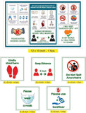 Coronavirus - Covid 19 Precautions - Corona - Corona Awareness safety posters For shops, offices, Clinic, and other commercial activity kit for coronavirus - covid19 - corona virus kit in english
