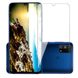 POPIO Full Screen Coverage except edges Tempered Glass for Samsung Galaxy M31/M21 with Easy Installation Kit (Transparent)