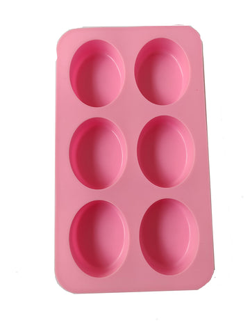 VAURUM 6 Cavities Oval Shape Soap Making Silicone Mould