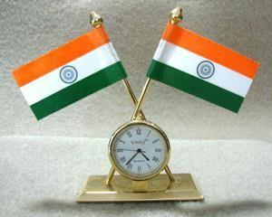 Indian Flag with Clock for Office Home and Car - {variant_title}} - Flag with Clock - kulia - www.tcgonlinestore.com - www.tcgonlinestore.com