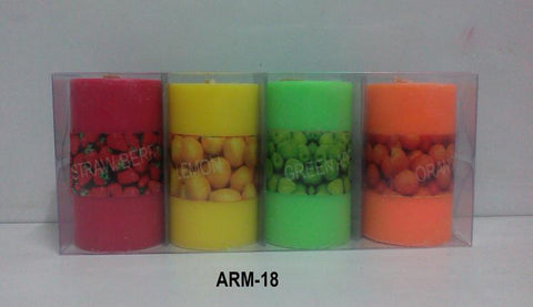 Candle Pillar Small apple Fragrance De Dux ARM-18 TCG 124-450 Rs 100