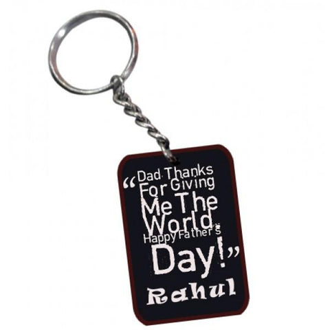 Best Dad Rectangle Wooden Key Chain With Free Shipping - {variant_title}} - Personalized Key Chain - vtr - www.tcgonlinestore.com - www.tcgonlinestore.com