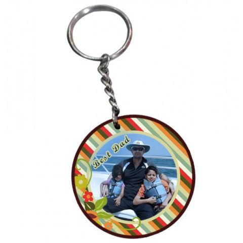 Best Dad Wooden Round Keychain - {variant_title}} - Personalized Key Chain - vtr - www.tcgonlinestore.com - www.tcgonlinestore.com