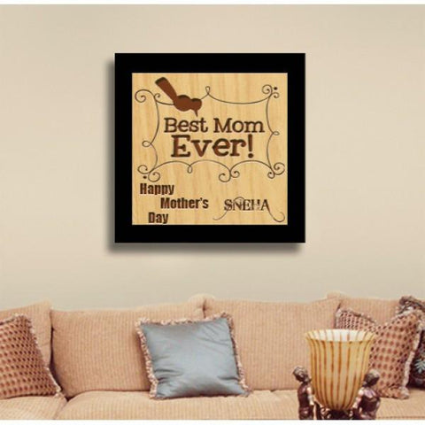 Best Mom Ever Square Wooden Medium Plaque - {variant_title}} - wooden square - vtr - www.tcgonlinestore.com - www.tcgonlinestore.com