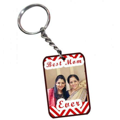Best Mom Ever Wooden Rectangular Keychain - {variant_title}} - Personalized Key Chain - vtr - www.tcgonlinestore.com - www.tcgonlinestore.com