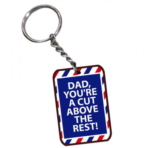 Dad Always Best Rectangle Wooden Key Chain - {variant_title}} - Personalized Key Chain - vtr - www.tcgonlinestore.com - www.tcgonlinestore.com