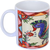 Coffee Mug with Madhubani Painting Shipping Free in 2 Kms - {variant_title}} - Picture Mug - TCG Print Shop - www.tcgonlinestore.com - www.tcgonlinestore.com - 1