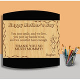Happy Mother's Day Wooden Curve Plaque - {variant_title}} - wooden personalized - vtr - www.tcgonlinestore.com - www.tcgonlinestore.com