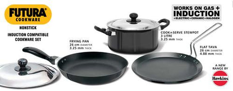 Futura Sets NON STICK INDUCTION COMPATIBLE SET - {variant_title}} - kitchen ware - Hawkins - www.tcgonlinestore.com - www.tcgonlinestore.com