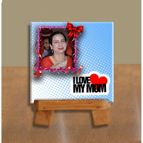 I Love My Mom Day Small Square Tile - {variant_title}} - photo tile - vtr - www.tcgonlinestore.com - www.tcgonlinestore.com - 1